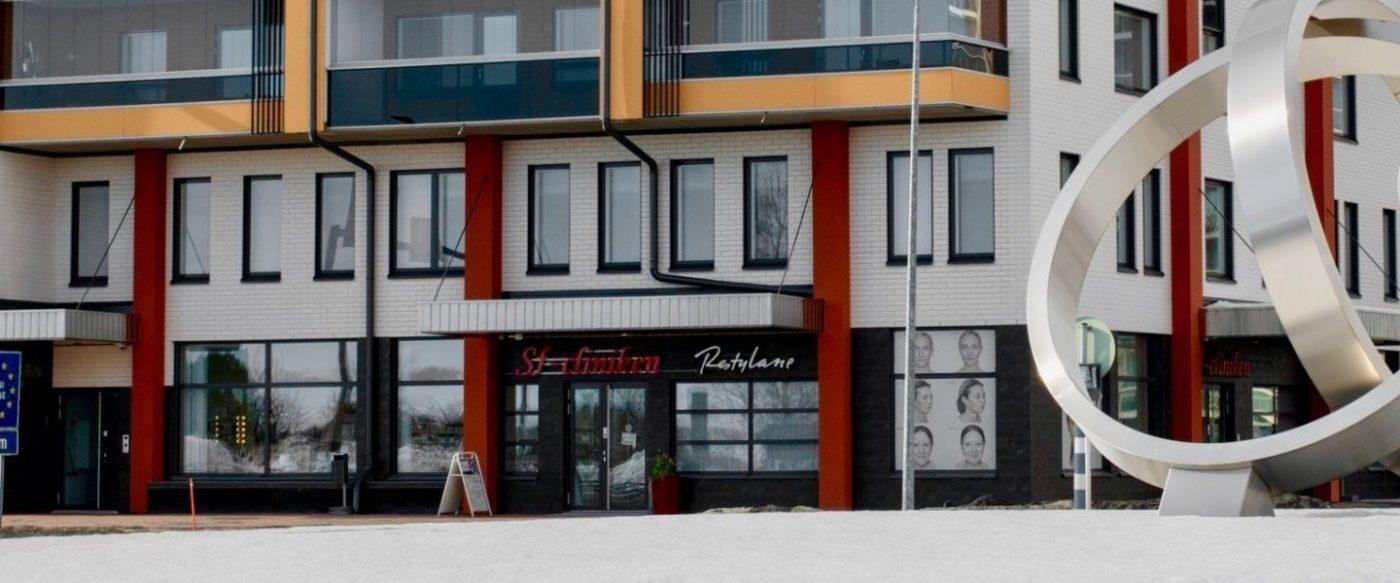 Sf-clinikenin tilat Torniossa talvella.